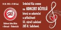 Koncert učitelů - 14.10.2013 v 17 hodin - KD Altán Třebovice